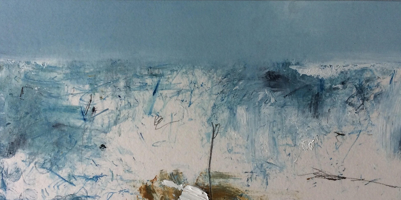 Winter Field (28x14cm) oil and pencil on board £300