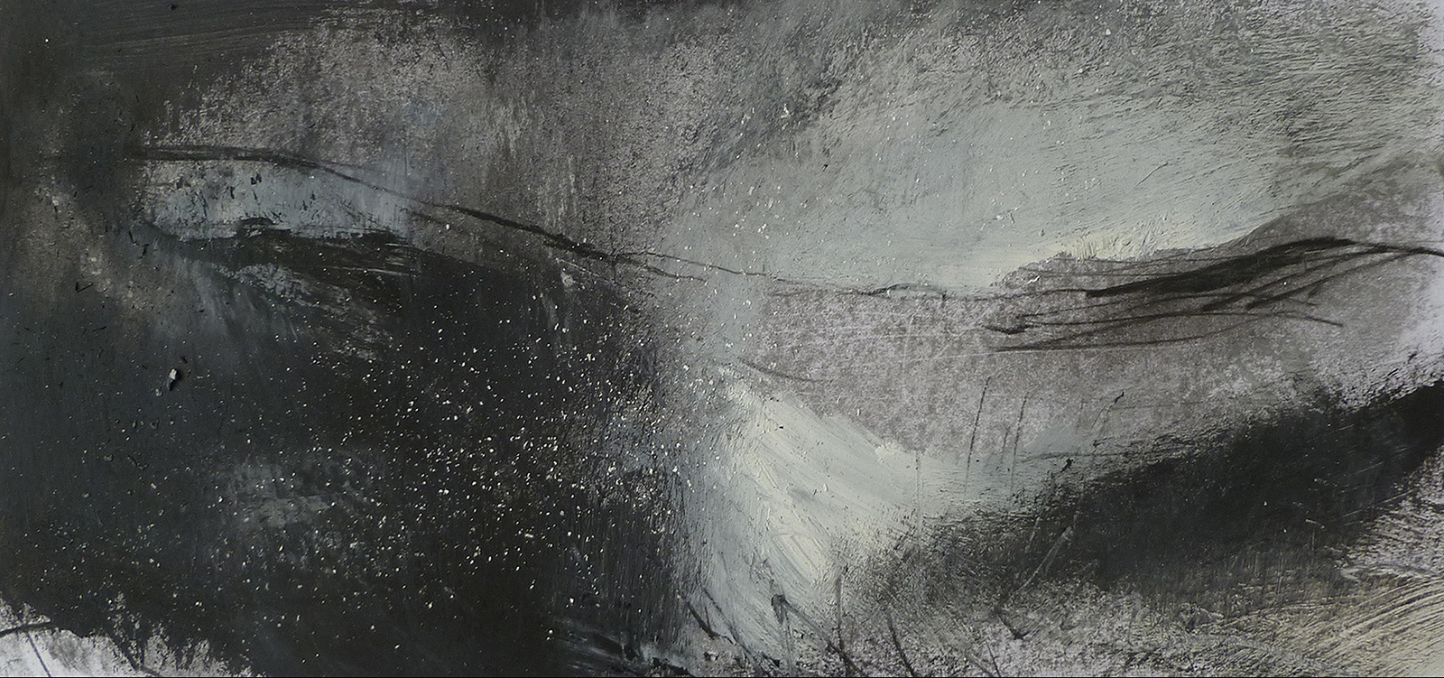 Winter Landscape XVI (23 x 46cm) not for sale